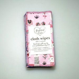 Grateful Casa Accessories - 10 reusable CLOTH WIPES mixed pinks